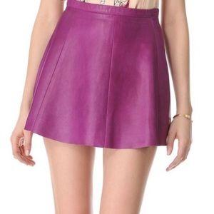 Love Leather Circle Skirt